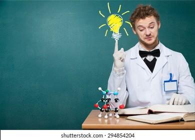 Genius, mad, scientist.