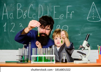 Genius minds. Signs your child could be gifted. Joys and challenges raising gifted child. Special and unique. Genius toddler private lesson. Genius kid. Teacher child test tubes. Chemical experiment.