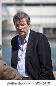GENOA - APRIL 9: Claudio Burlando  Governor of Liguria at Garibaldi Regatta Tall Ships 2010 Event April 9, 2010 in Genoa, Italy