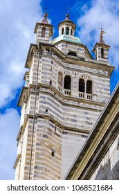 Genoa Cathedral in Italy. Genoa Cathedral is a Roman Catholic cathedral dedicated to Saint Lawrence and is the seat of the Archbishop of Genoa.