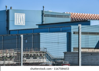 Genoa, Italy - August 15, 2018: A general view of the ILVA plant, the  largest Italian steelworks company in Europe.