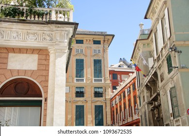 At Genoa, Italy, - On 04/01/2018 - Beautiful palaces known as Rolli in Via Garibaldi at Genova, Italy