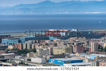 Genoa Italy September 2 2018 Aerial Stock Photo Edit Now