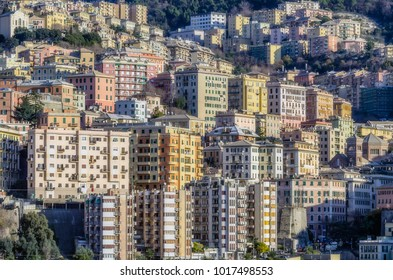 Genoa, Italy -view from the sea