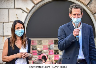 Genoa-Italy 18 June 2021: Protest against Autostrade: Genoa in the square against agreement