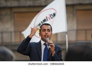 GENOA,ITALY - MAY 16 2015 -  Luigi Di Maio, leader of M5S party and winner of the last political elections, meeting with voters and supporters in Genoa