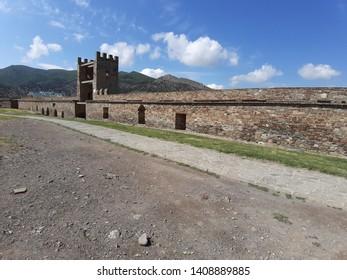 Genoese castle in Crimea. Mario castle.