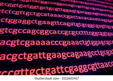 Genome sequencing. The deciphering of the DNA code, write the sequence of nucleotide bases.