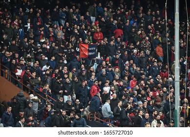 Genova, Italy, February 23 2020 fans genoa during Genoa vs SS Lazio italian Serie A soccer match