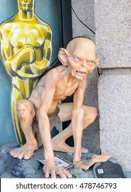 GENOVA, ITALY - MAY 4, 2016: Gollum fron the Lord of the Rings, International cinema museum in Genova, Italy. Museum with collections about the popular Hollywood movies.