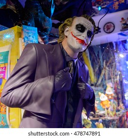GENOVA, ITALY - MAY 4, 2016: Jocker, International cinema museum in Genova, Italy. Museum with collections about the popular Hollywood movies.