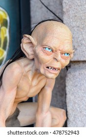 GENOVA, ITALY - MAY 4, 2016: Gollum in the International cinema museum in Genova, Italy. Museum with collections about the popular Hollywood movies.
