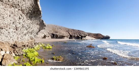 Genoveses beach. Cabo de Gata natural Parl. Almeria, Spain.