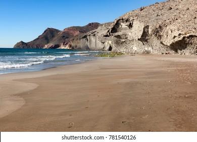 Genoveses beach. Cape of Gata Natural Park