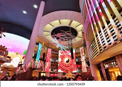 Genting Highland, Malaysia, Jan 21 2019: Many Asian tourists come to relax and gamble at the casino on Genting Highlands, which is a popular entertainment destination in Malaysia.