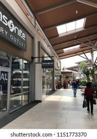 GENTING HIGHLAND, MALAYSIA- JULY 20, 2018: Samsonite outlet in Genting Highland Premium Outlet, Pahang, Malaysia