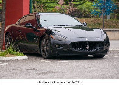 GENTING HIGHLAND, MALAYSIA - SEPT 25, 2016: Supercar Photo of a Maserati GranTurismo S . The Gran Turismo S is a two-door, four-seat coupe produced by the Italian car manufacturer Maserati.