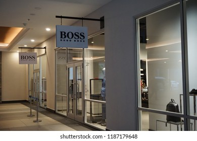d88605498 GENTING HIGHLAND, MALAYSIA- SEPTEMBER, 2018: Hugo Boss store at Genting  Premium Outlets