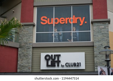 GENTING HIGHLAND, MALAYSIA- SEPTEMBER, 2018: Superdry store at Genting Premium Outlets. Superdry plc is a UK branded clothing company, and owner of the Superdry label.