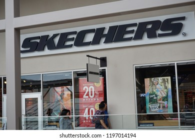GENTING HIGHLAND, MALAYSIA- SEPTEMBER, 2018: Skechers store in Genting Highland Premium Outlet, Pahang, Malaysia