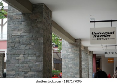 GENTING HIGHLAND, MALAYSIA- SEPTEMBER, 2018:Universal Traveller outlet in Genting Highland Premium Outlet, Pahang, Malaysia  .
