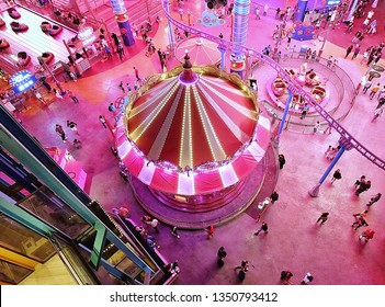 Genting Highland, Malaysia-Jan 22,2019:Genting resort world, have casino inside,hotel,themes park,entertainment, famous place in Malaysia.
