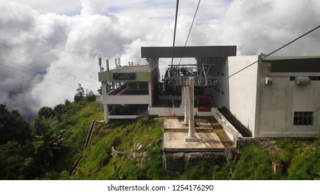 GENTING HIGHLANDS, MALAYSIA- DEC 03, 2018: Awana SkyWay at Genting Highlands, Malaysia. The Awana Skyway is one of the most convenient ways to reach the peak of Genting Highlands