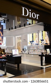 GENTING HIGHLANDS, MALAYSIA- DEC 03, 2018: Dior retailer in Genting Highlands, Malaysia. Christian Dior SE, commonly known as Dior, is a European luxury goods company