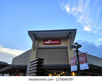 Genting Highlands ,Malaysia - January 2019 : PUMA outlet at Genting Highland, Malaysia. Puma SE, branded as Puma, is a German multinational company manufactures athletic and casual footwear.
