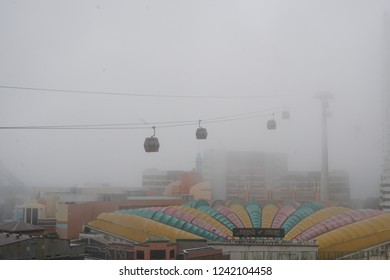 GENTING HIGHLANDS, MALAYSIA – NOVEMBER 04, 2018 : The construction view of FOX Theme Park at Genting Highland, Malaysia.