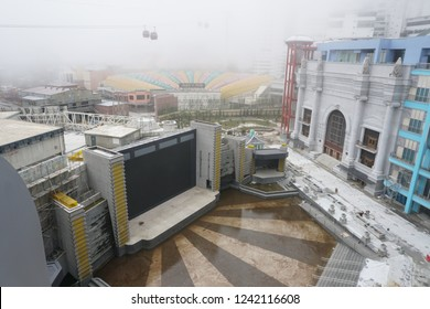 GENTING HIGHLANDS, MALAYSIA – NOVEMBER 04, 2018 : The construction view of New Theme Park at Genting Highland, Malaysia.