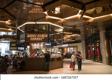 Genting Highlands, Malaysia - Oct 18,2017 : People can seen exploring around SkyAvenue. It is a new shopping mall offers a variety of retail, dining, and entertainment outlets in Genting Highlands.