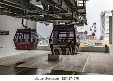 Genting Highlands, Malaysia - Oct 22, 2018 : Tourists can opt to travel via the Genting Skyway cable car to reach Genting Highlands.
