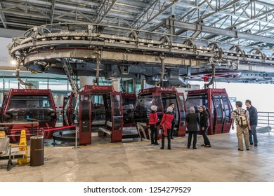 Genting Highlands, Malaysia - Oct 22, 2018 : Tourists can opt to travel to Genting Highlands via the Genting Skyway cable car.