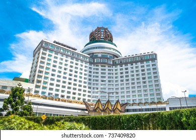 Genting Highlands, Malaysia - October 18,2017 : Resorts World Genting is a hill resort located in Bentong, Pahang, Malaysia. People can seen exploring around it.