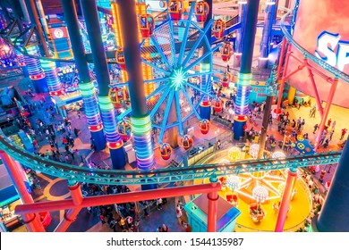 GENTING HIGHLANDS, MALAYSIA - OCTOBER 27, 2019. Tourist travel to Skytropolis Funland in first world resort at genting highland in Malaysia.