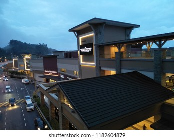 Genting Highlands, Malaysia - September 2018 : Genting Highlands Premium Outlets is an open-air shopping mall with an extensive collection of designer fashion, sportswear and luggage.
