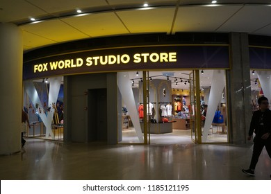 Genting Highlands, Malaysia - September 2018: View of the 20th Century Fox World shop at Genting Highlands. Twentieth Century Fox Film is an American film studio currently owned by 21st Century Fox.