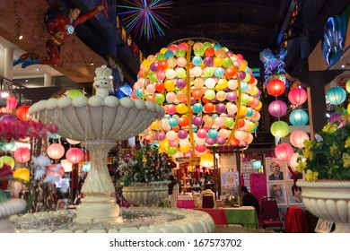 Genting Highlands, Malaysia - SEPTEMBER 26: Colorful Light Ball Lantern at Resort World Genting on Sep 26, 2013 in Genting Highlands, Pahang, Malaysia