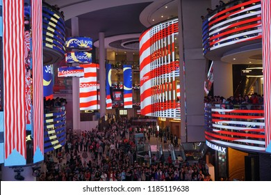 Genting Highlands ,Pahang, Malaysia - September 2018: Sky Avenue is a huge shopping mall located in Genting which can be reached by skyway cable ride.Located in Pahang, Malaysia.