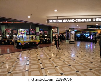 "Genting Highlands, Pahang,Malaysia - September 2018:Genting Grand Hotel is part of the colorful Genting Highlands ""City of Entertainment"" complex ."