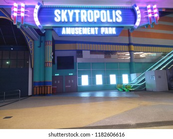 Genting Highlands, Pahang,Malaysia - September 2018:The SkyTropolis Indoor Theme Park in Resorts World Genting will be opening its doors by the end of 2018.