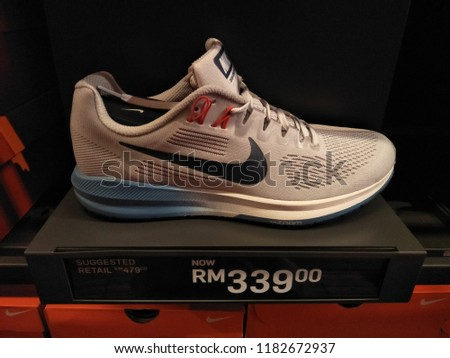 ac53a26fd7f Genting Highlands Malaysia September 2018 Nike Shoes Stock Photo ...