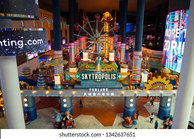 Genting , Malaysia - Mar 1, 2019 : tourist travel to Skytropolis Funland in first world resort at genting highland in Malaysia .