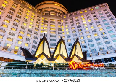 Genting, Malaysia - March 12, 2015: Genting Resort World, have casino inside, hotel, themes park, entertainment, famous place in Malaysia.