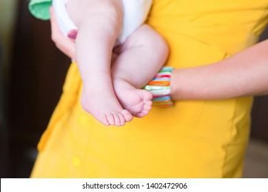 gentle baby feet baby.  newborn child
