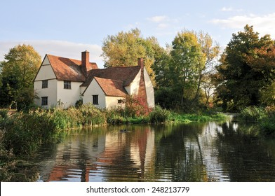 Gentle evening light on a Cottage, Flatford Mill, England.