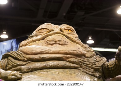 Gentle Giant's Jabba the Hut replica at the Star Wars Celebration in Anaheim, California, April 2015.