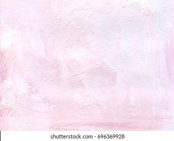 Gentle Pink Painted Oil Acrylic Background With the texture of brush strokes