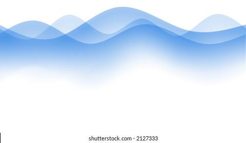 Gentle simple blue waves